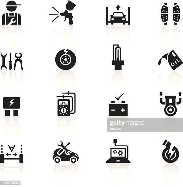 black symbols - automobile repair shop