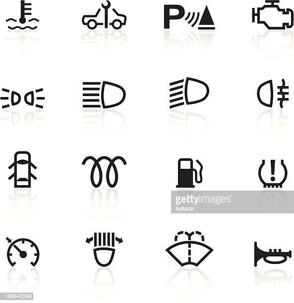 Black Symbols - Car Control Indicators
