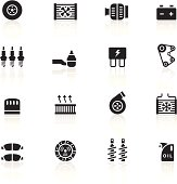 Black Symbols - Car Maintenance