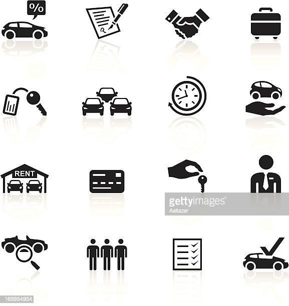 black symbols - car rental - car key stock illustrations, clip art, cartoons, & icons
