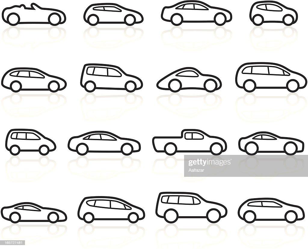 Black Symbols Cars stock illustration - Getty Images