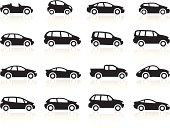 Black Symbols - Cartoon Cars