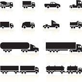 Black Symbols - Cartoon Trucks