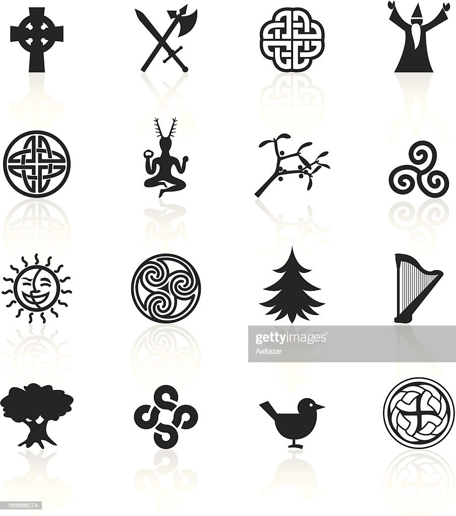 Black symbols celtic vector art getty images black symbols celtic buycottarizona Image collections