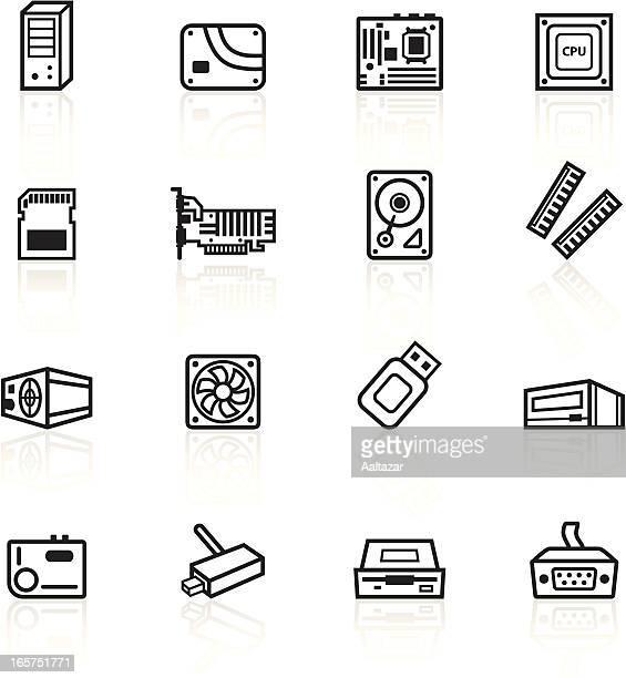 Black Symbols - Computer Components