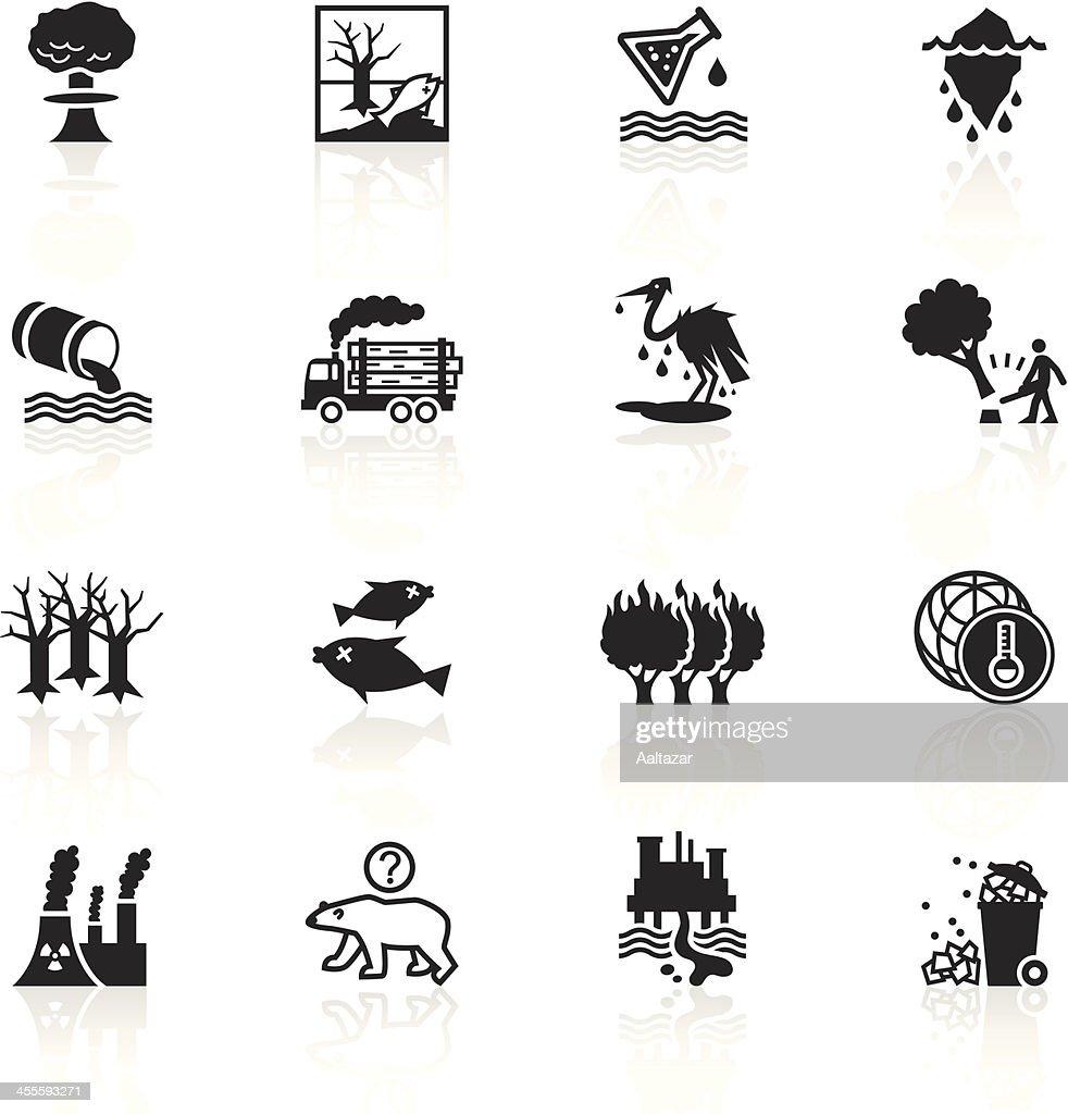 Black Symbols - Environmental Damage : stock illustration