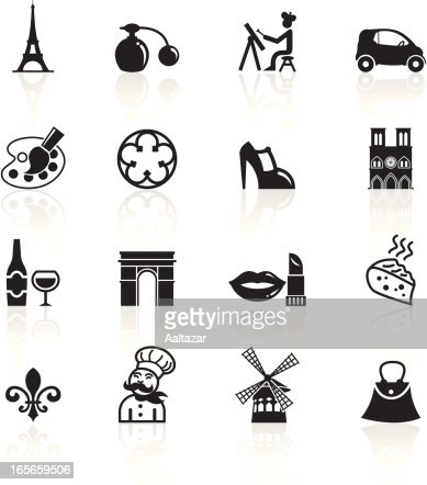 Black Symbols France Paris Vector Art Getty Images