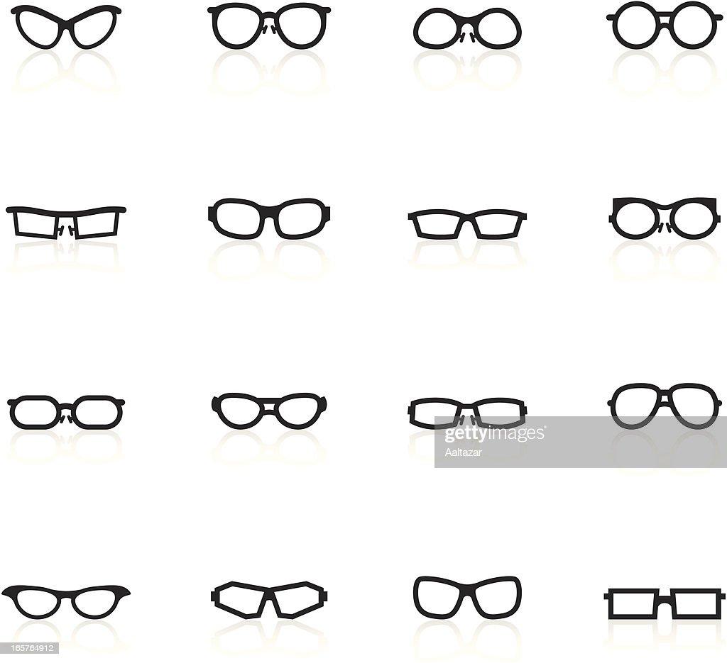Black Symbols - Glasses : stock illustration