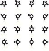 Black Symbols - GPS Roundabout Arrows