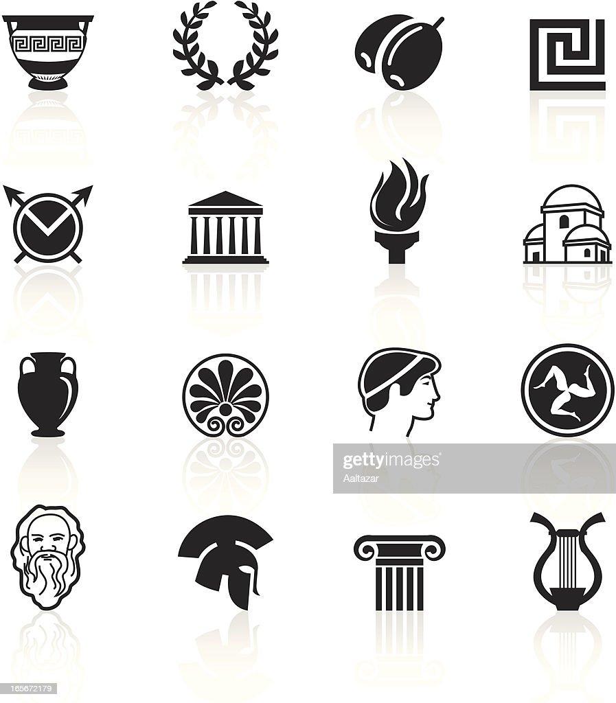 Black Symbols - Greece : stock illustration