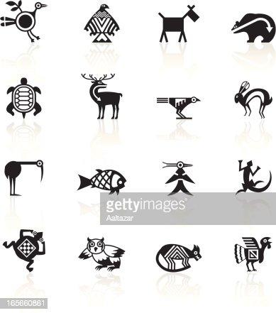 Black Symbols Indian Tribal Animals Vector Art Getty Images