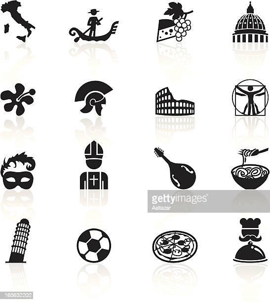 Schwarze Symbole-Italien