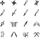 Black Symbols - Japanese Ninja Weapons