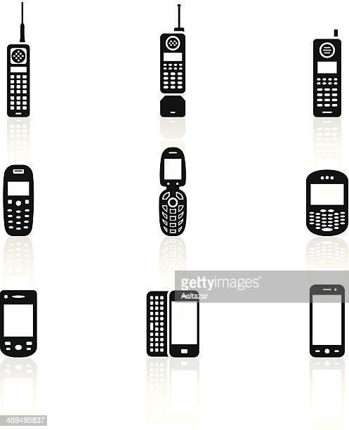 Black Symbols - Mobile Phone Evolution