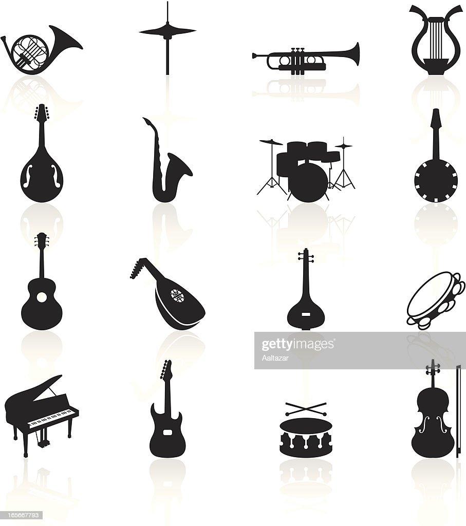 Black Symbols Musical Instruments Vector Art Getty Images