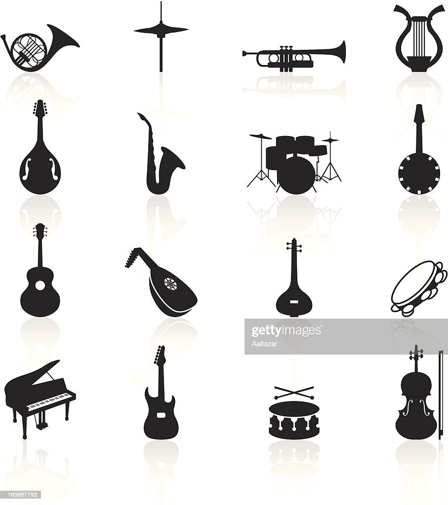 Black Symbols - Musical Instruments