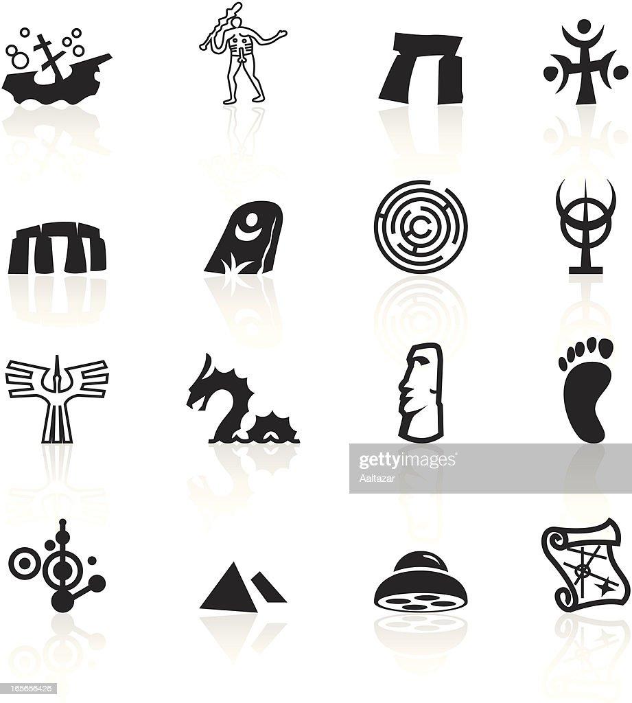 Black Symbols - Mysteries : stock illustration