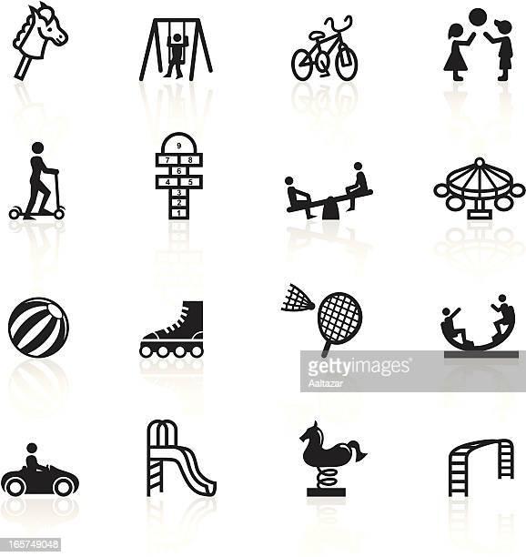 Negro símbolos-Patio de juegos