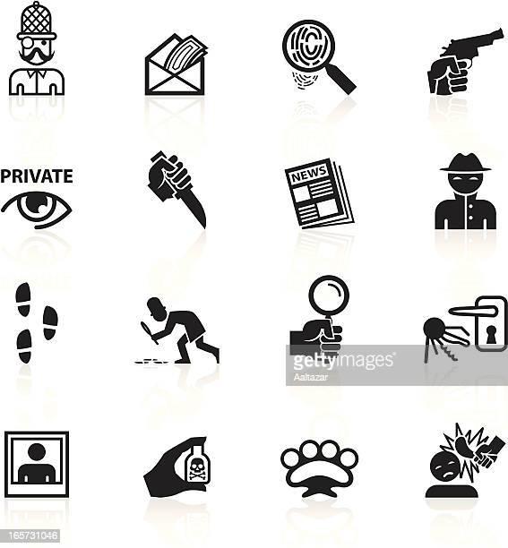 Preto símbolos-privada olho & Detetive