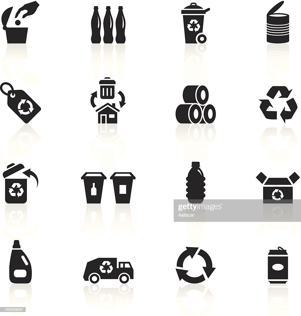 Black symbols recycle vector art getty images black symbols recycle buycottarizona Image collections