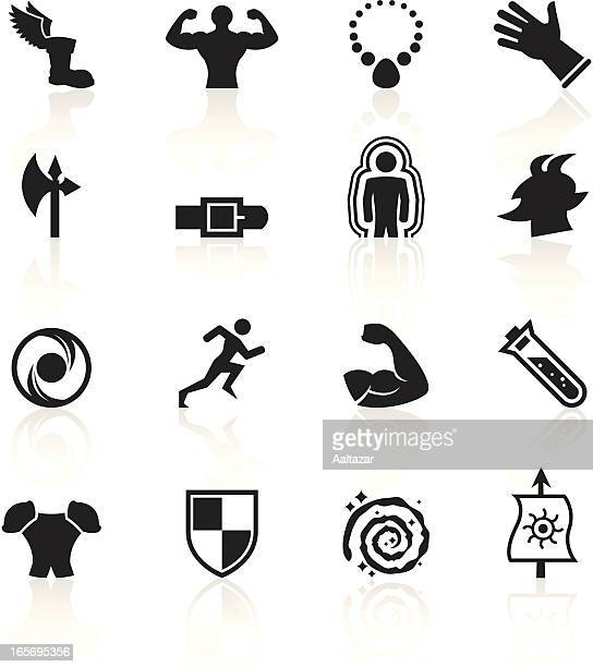 black symbols - role playing games - bicep stock illustrations, clip art, cartoons, & icons