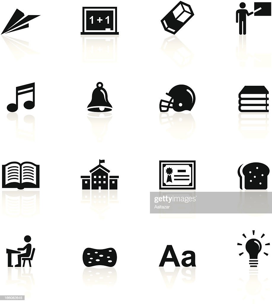 Black symbols school and education vector art getty images black symbols school and education vector art buycottarizona Image collections