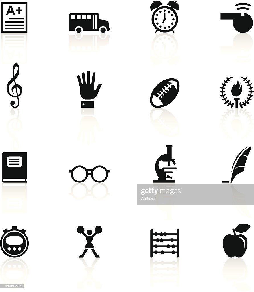 Black symbols school vector art getty images black symbols school buycottarizona Image collections