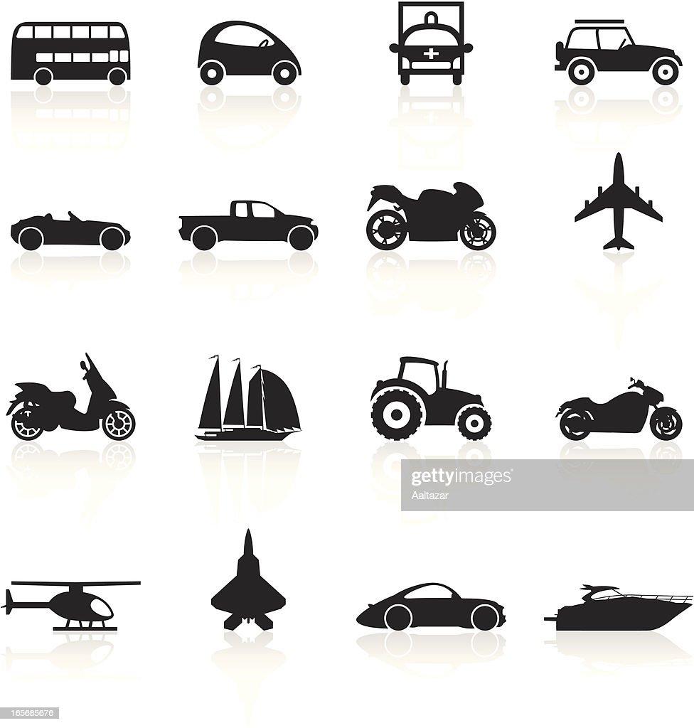 Black Symbols Transportation stock illustration - Getty Images