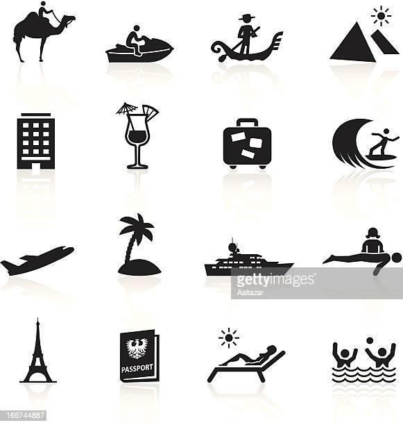 black symbols - vacation - venice italy stock illustrations, clip art, cartoons, & icons
