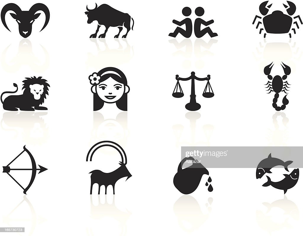 Black Symbols Zodiac Signs stock illustration - Getty Images