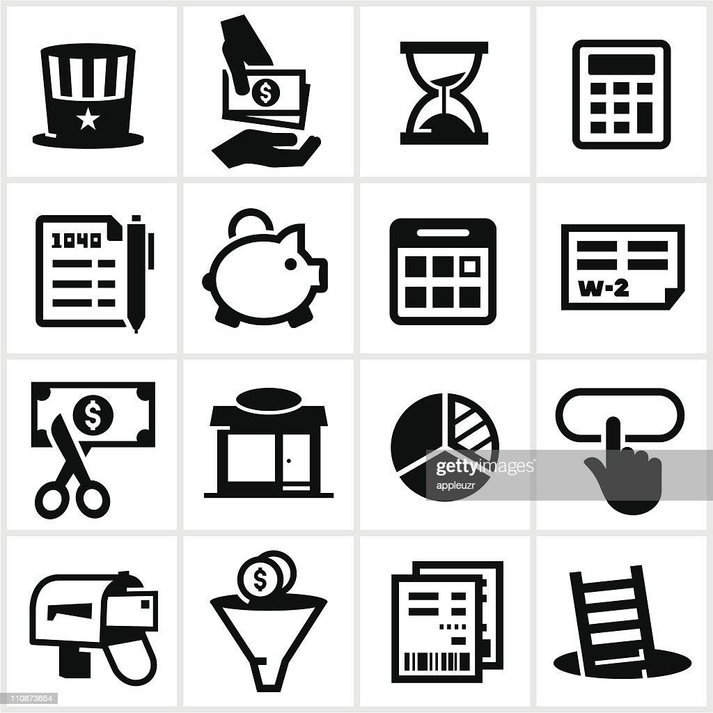 Black Tax Icons