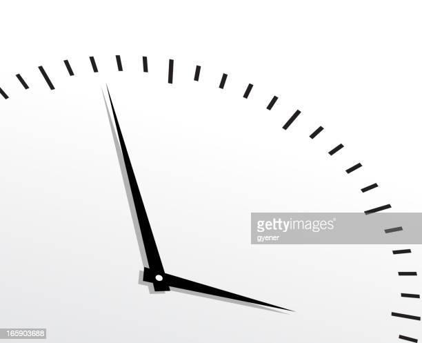 Black timer on white background