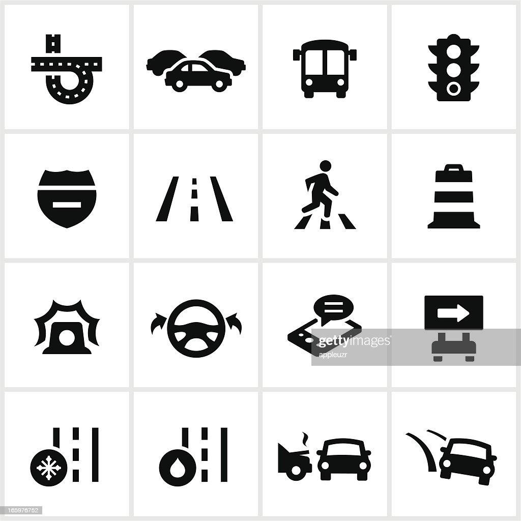Black Traffic Icons : stock illustration