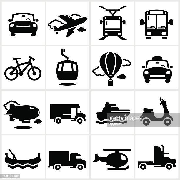 black transportation icons - moped stock illustrations, clip art, cartoons, & icons