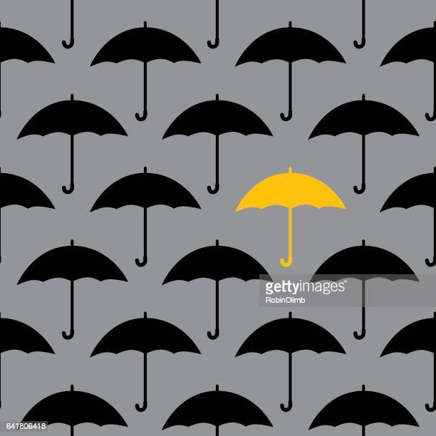 Black Umbrellas Seamless Pattern