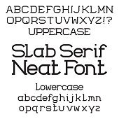 Black uppercase and lowercase letters. Neat slab serif font.
