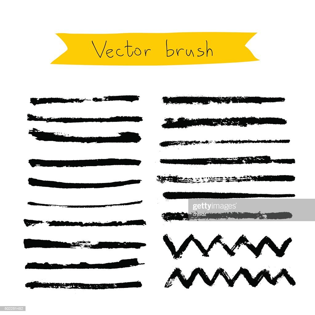 Black vector brush on a white background