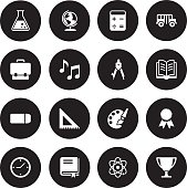 Black Vector Education - 16 Icons