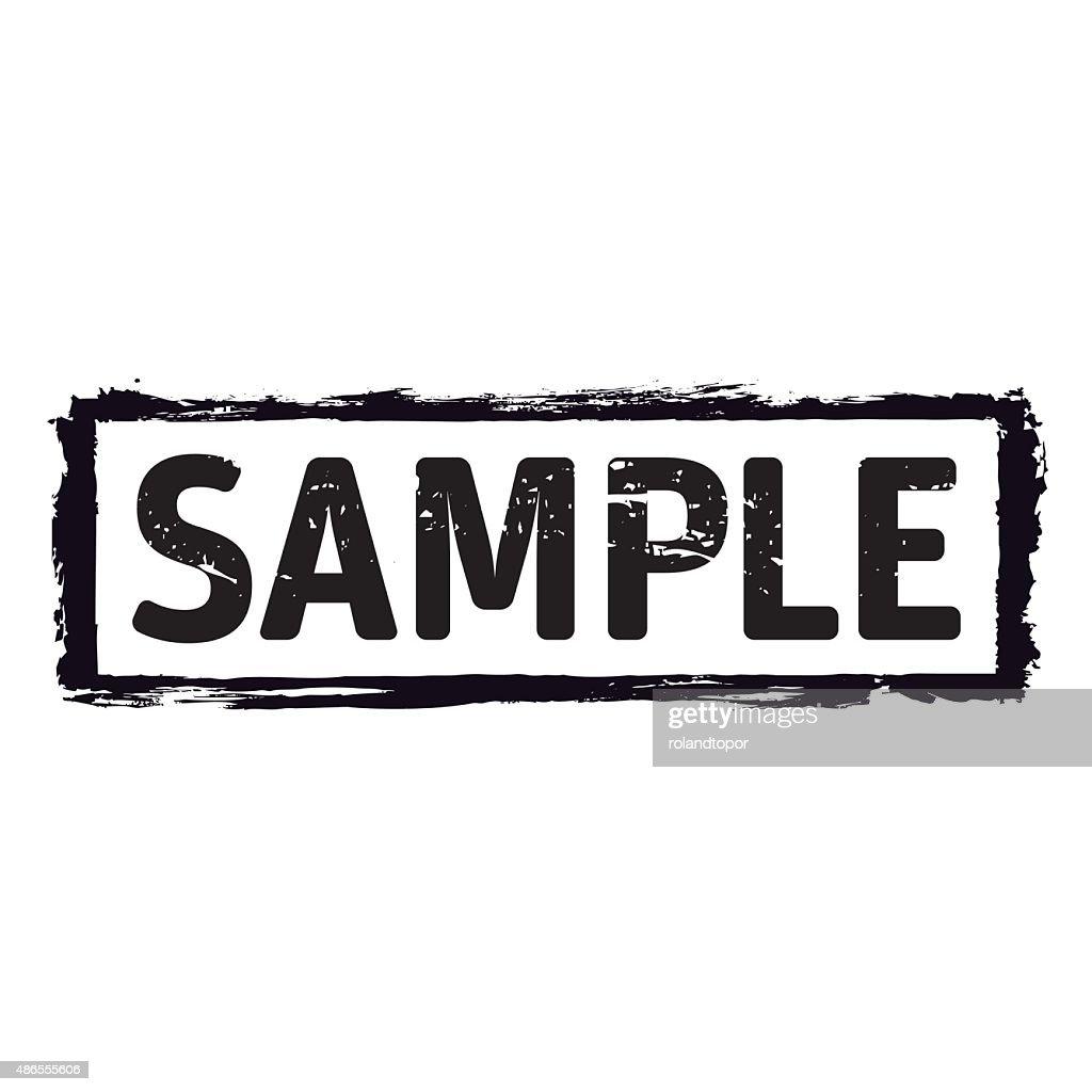 Black vector grunge stamp SAMPLE