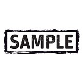 Black vector grunge stamp SAMPLE