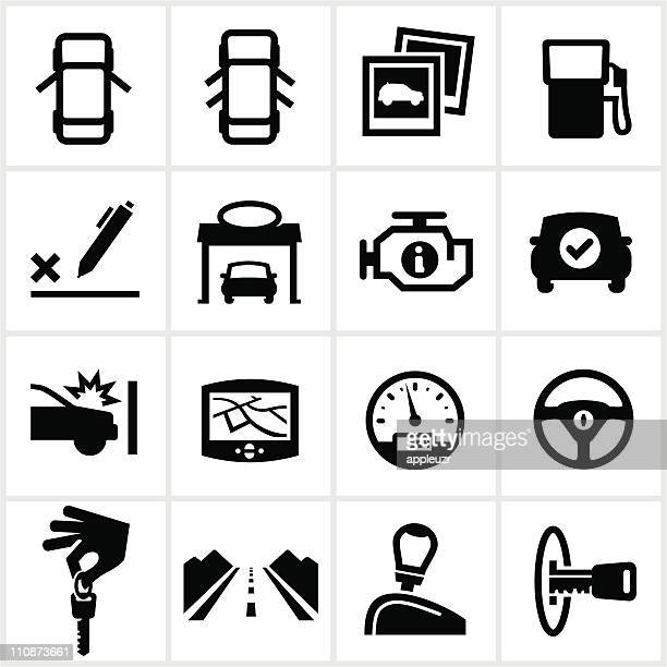 black vehicle icons - gearshift stock illustrations, clip art, cartoons, & icons
