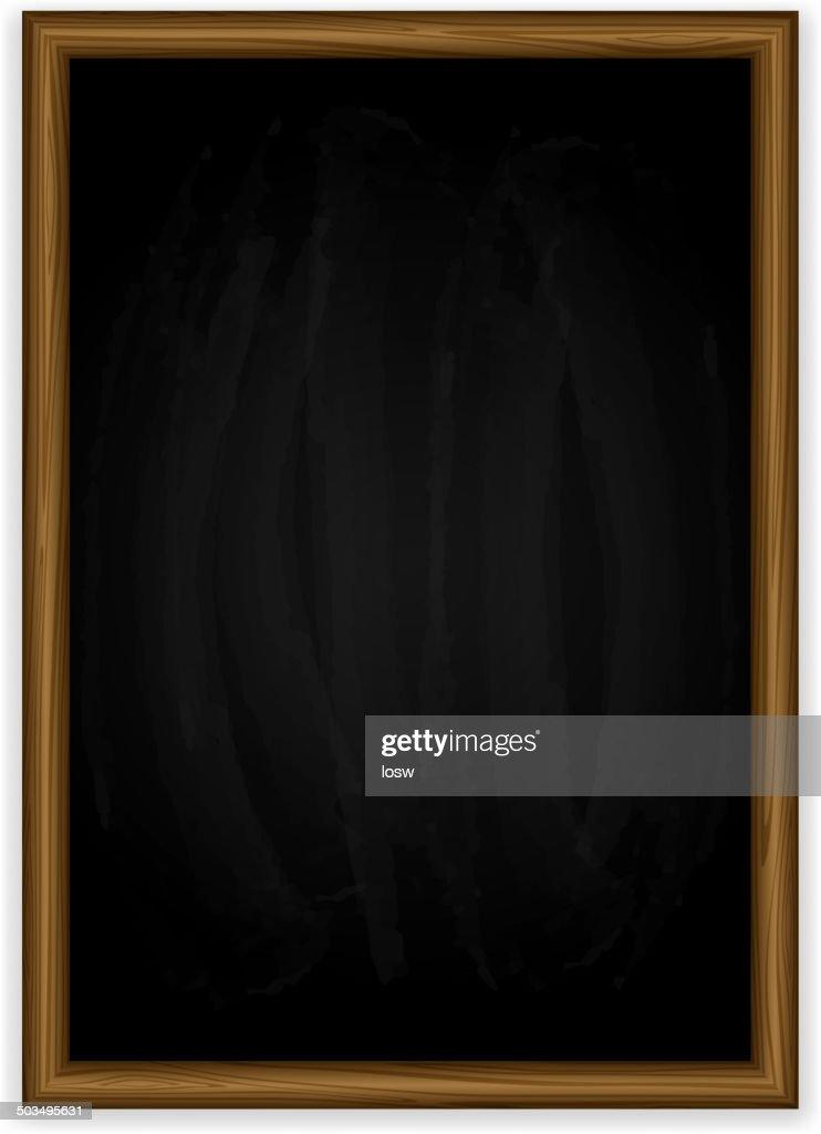 Black vertical chalkboard