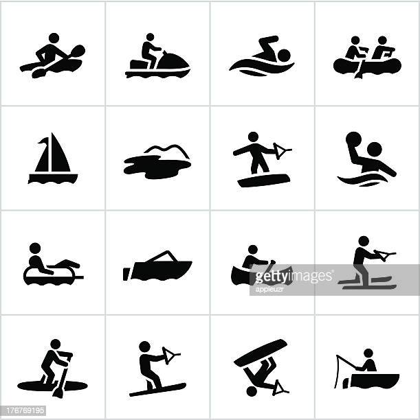 Black Water Recreation Icons