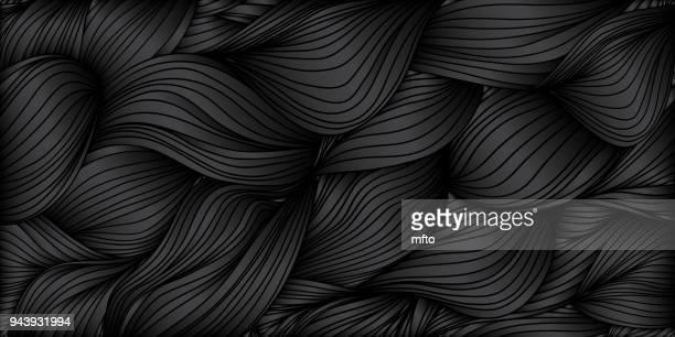 Black waved background