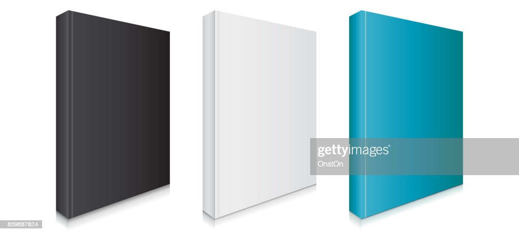 Black, White and Blue Blank Book Covers