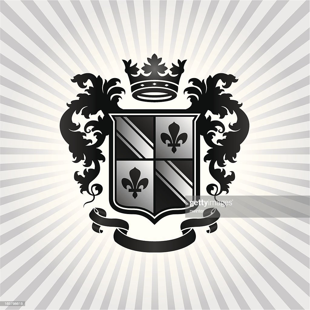 Black white and gray heraldic crest vector art getty images black white and gray heraldic crest vector art biocorpaavc Gallery