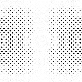 Black white curved star pattern background