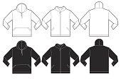 Black White Hoodie Sweatshirt Design Template