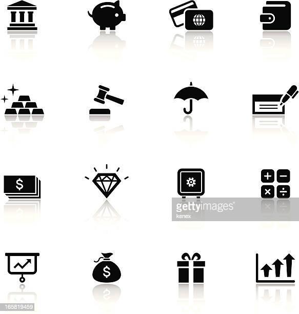 Black & White Icons Set | Finance