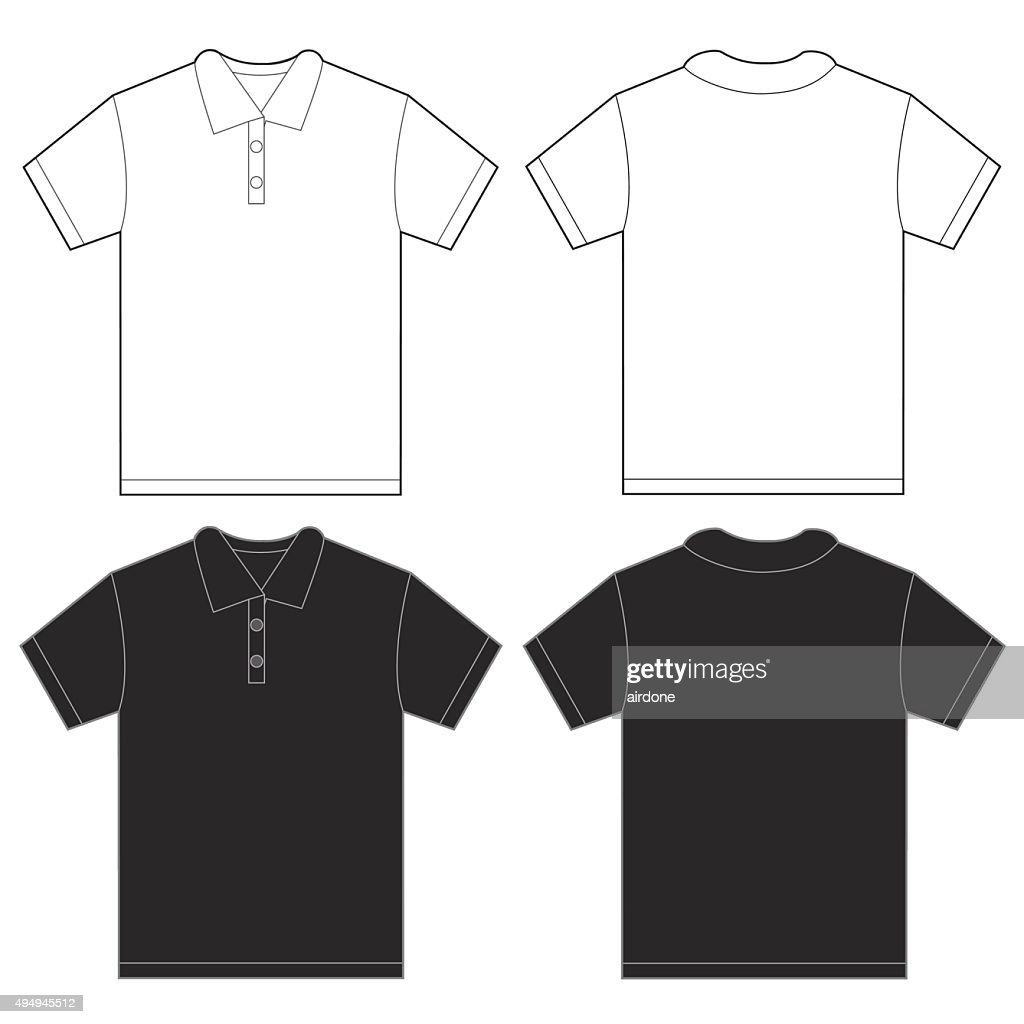 Black White Polo Shirt Design Template For Men